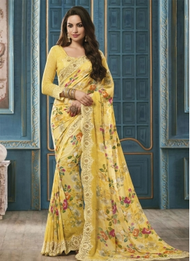 Majesty Faux Georgette Classic Saree For Ceremonial