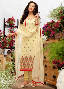 Majesty  Faux Georgette Straight Suit For Festival
