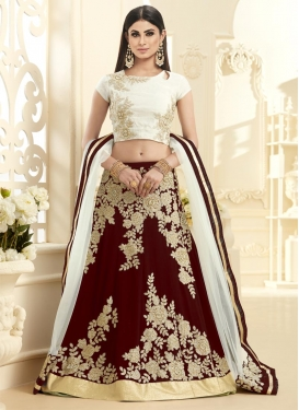 Majesty Mouni Roy Cutdana Work A Line Lehenga Choli