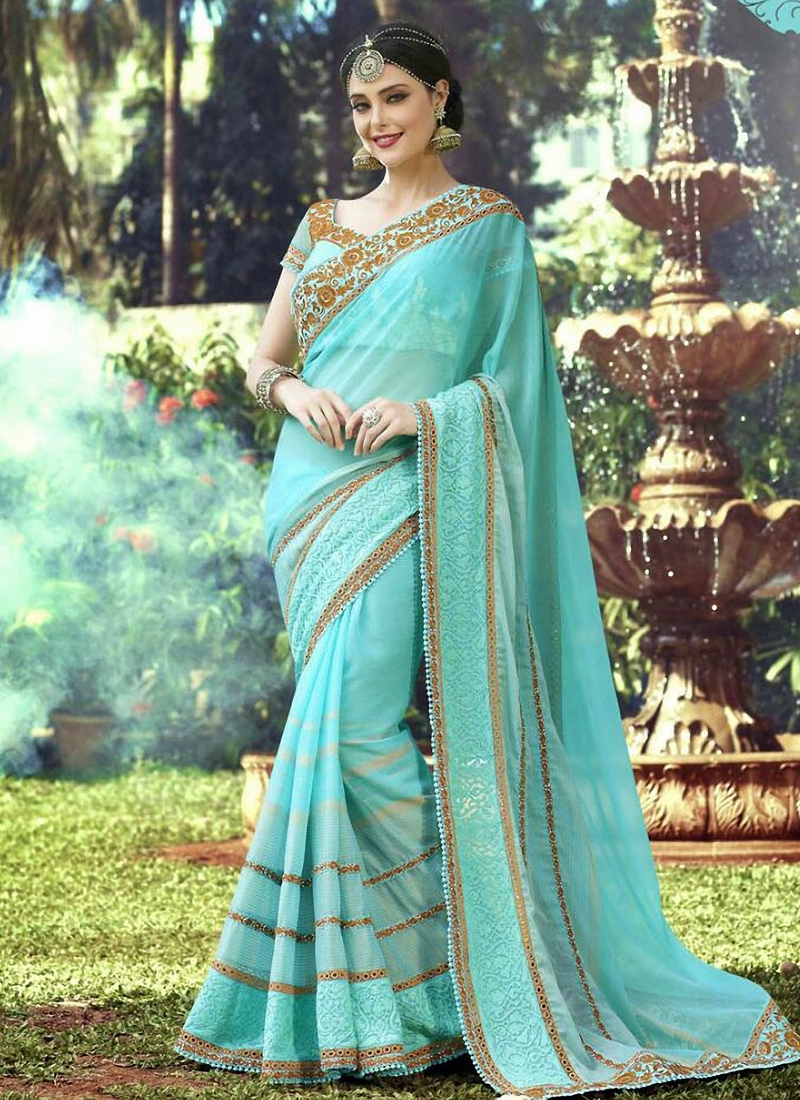 Majesty Patch Border Work Designer Saree