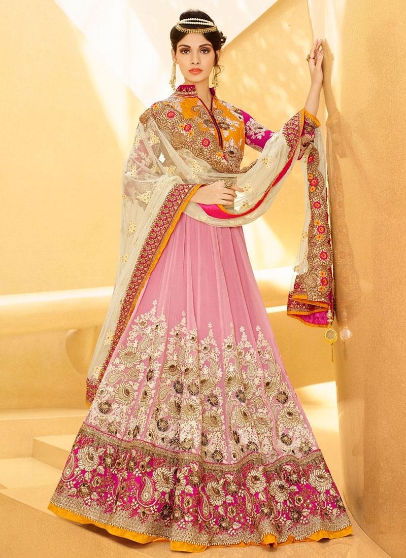 Majesty Patch Border Work Wedding Lehenga Choli