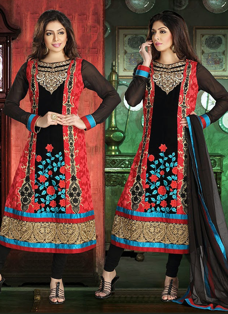 Majesty Patch Work Readymade Salwar Kameez
