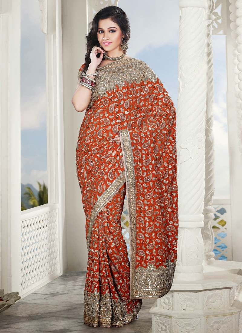 Majesty Sequins Enhanced Bridal Saree