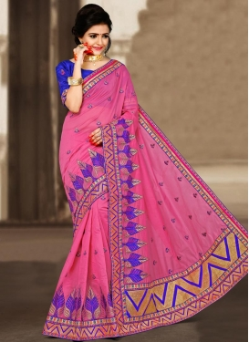 Manipuri Silk Lace Work Contemporary Saree