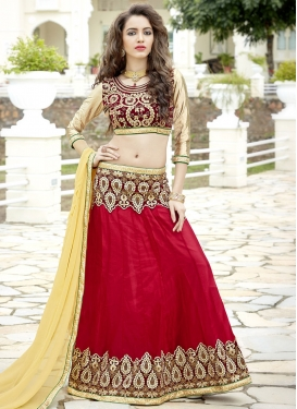 Maroon and Red Trendy Lehenga Choli For Festival