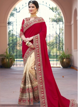 Marvelous  Art Silk Half N Half Saree