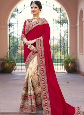 Marvelous  Art Silk Half N Half Saree