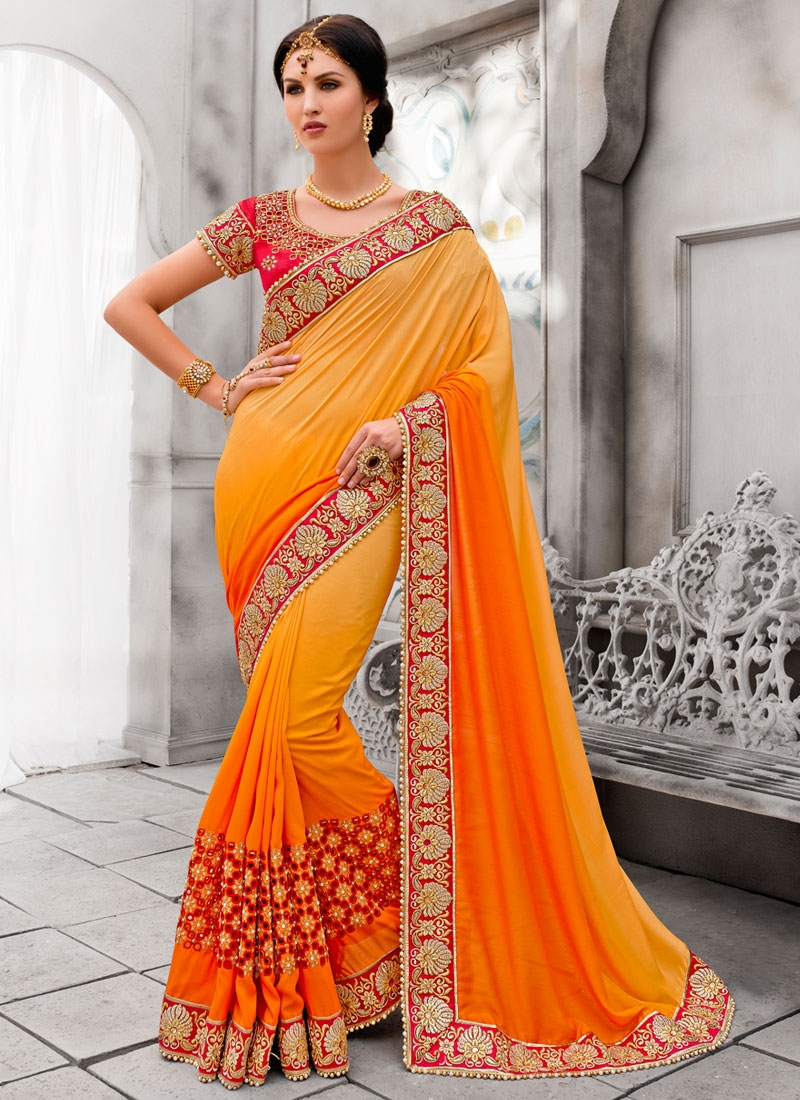 Marvelous Cotton Silk Stone Work Wedding Saree