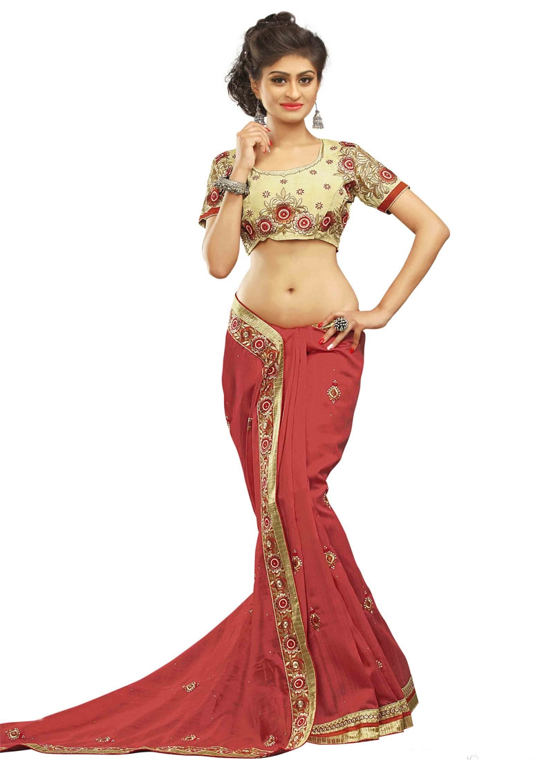 Marvelous Lace And Stone Work Party Wear Saree