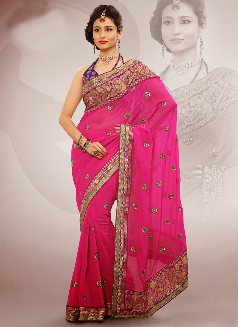 Marvelous Patch Enhanced Party Wear Saree