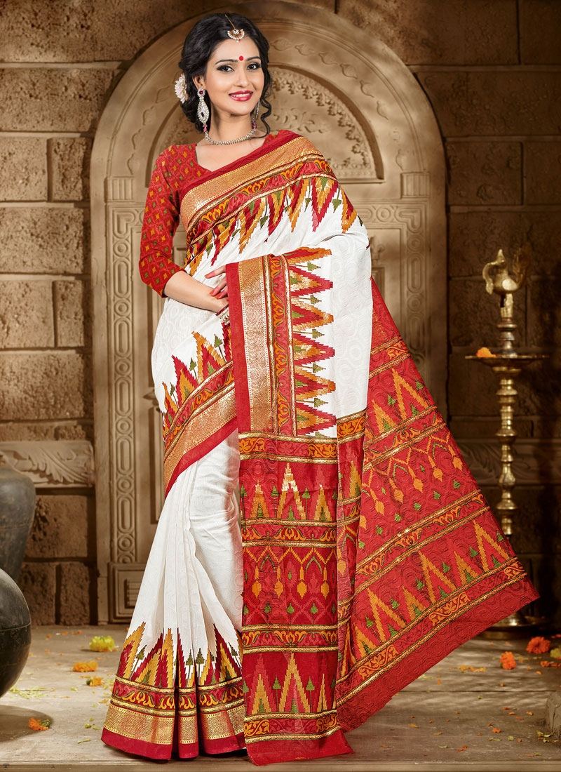 Marvelous Printed Art Silk Casual Saree