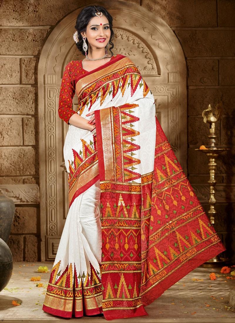 Marvelous Printed Art Silk Casual Saree