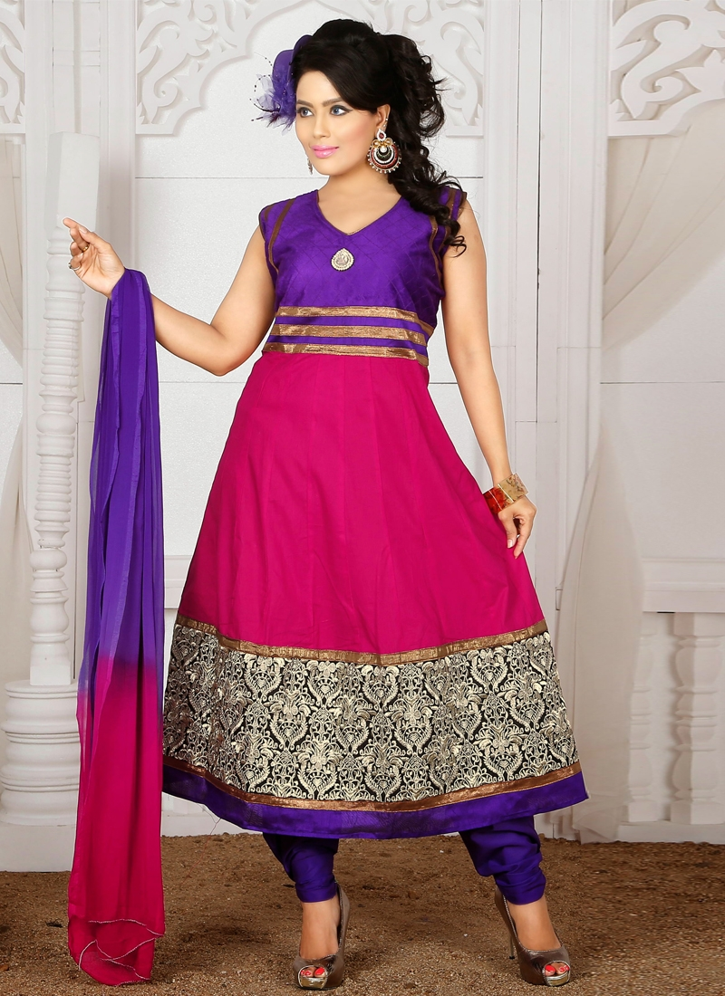 Marvelous Resham Enhanced Readymade Churidar Suit