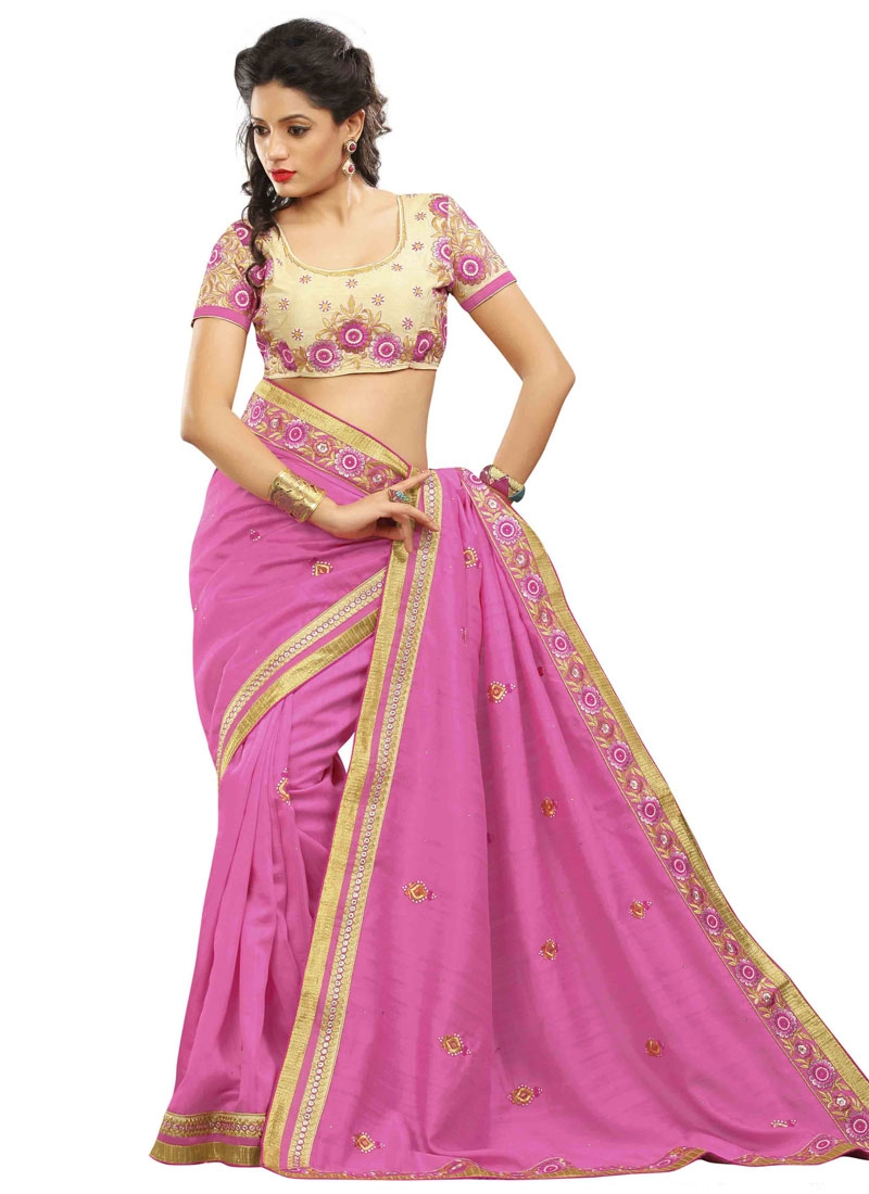 Marvelous Stone Work Bhagalpuri Silk Party Wear Saree