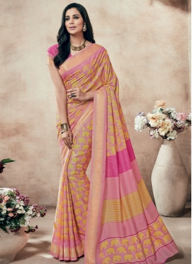 Masterly Art Silk Printed Casual Saree