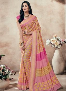 Masterly Art Silk Printed Casual Saree