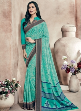 Masterly Art Silk Printed Party Wear Saree