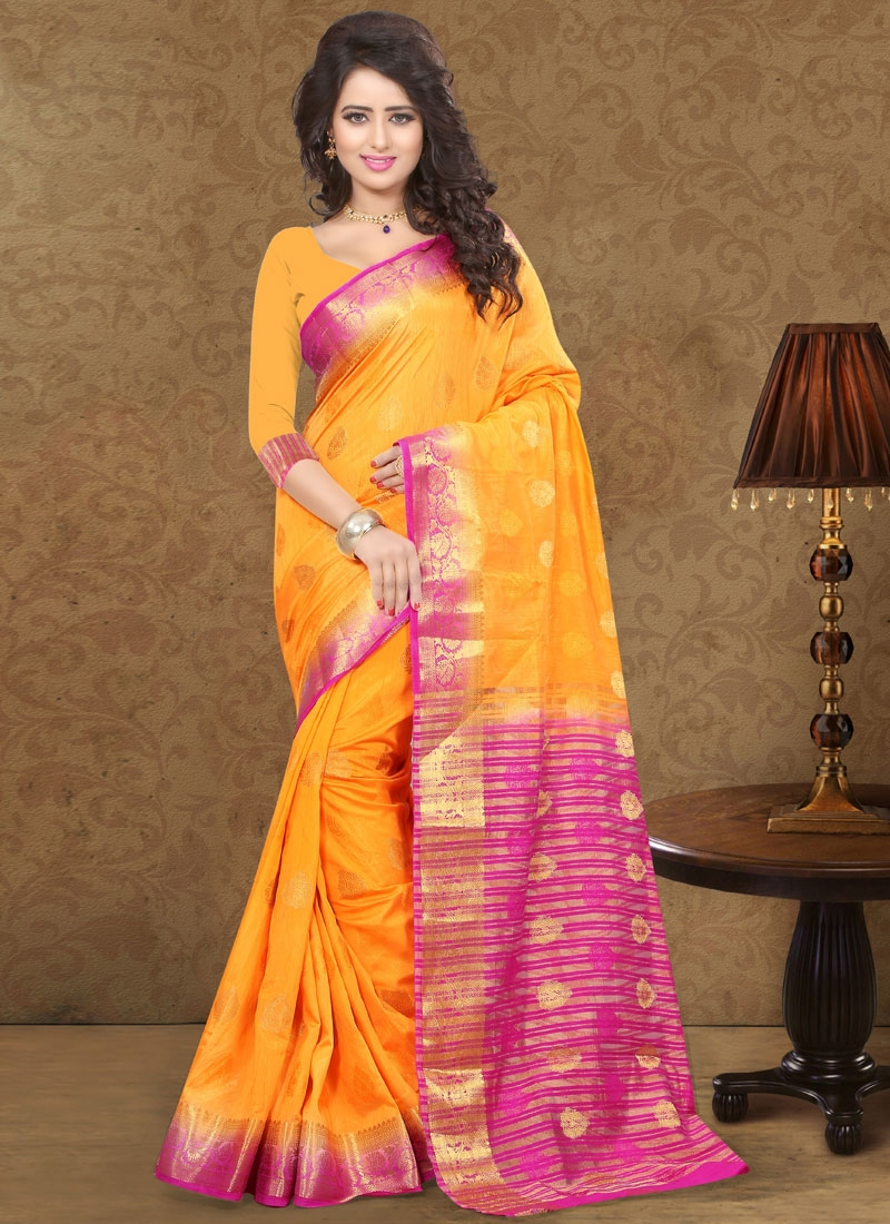 Masterly Art Silk Resham Work Party Wear Saree