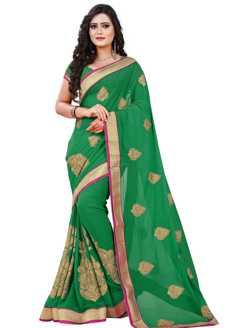 Masterly Booti And Stone Work Party Wear Saree