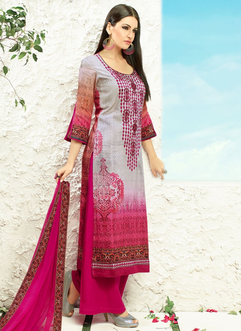 Masterly Cotton Satin Palazzo Style Party Wear Suit