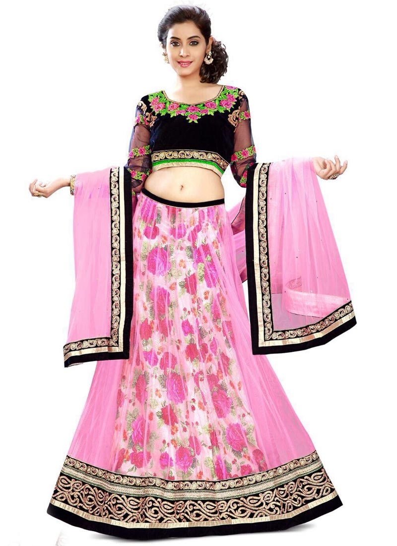 Masterly Digital Print And Resham Work Designer Lehenga Choli