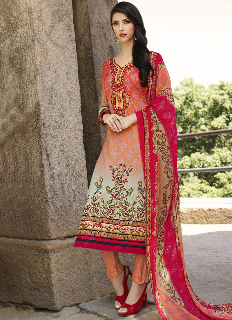 Masterly Digital Print Work Pant Style Party Wear Suit