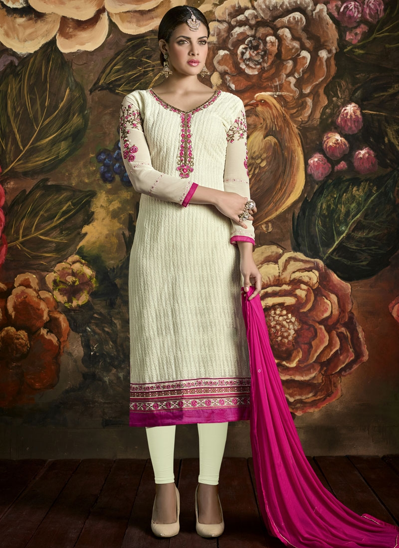 Masterly Embroidery And Stone Work Party Wear Salwar Suit