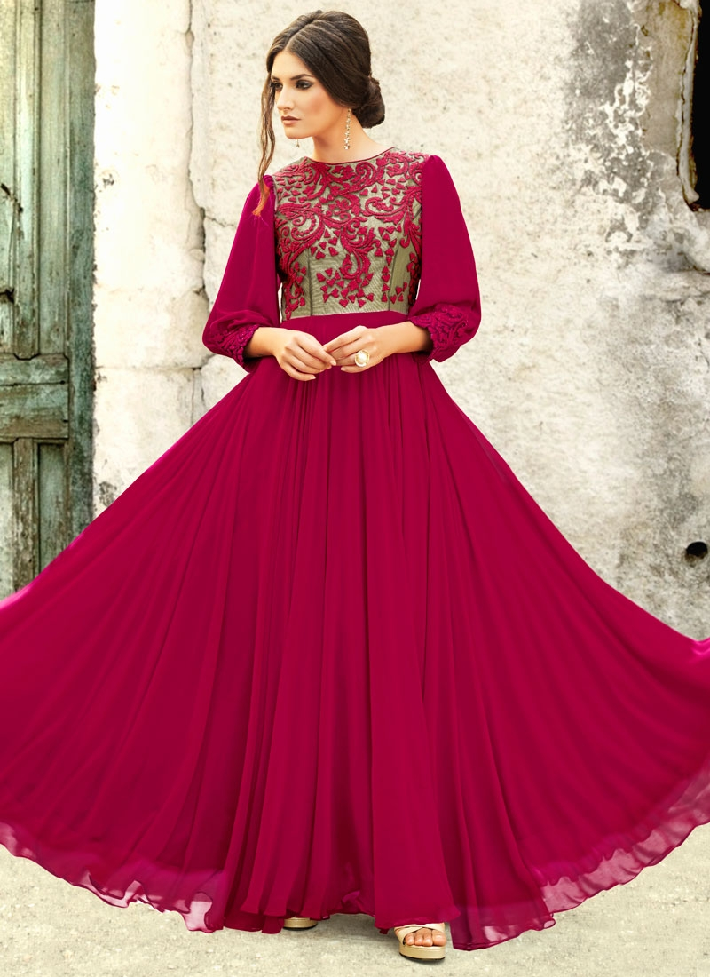 Masterly Embroidery Work Wedding Readymade Gown