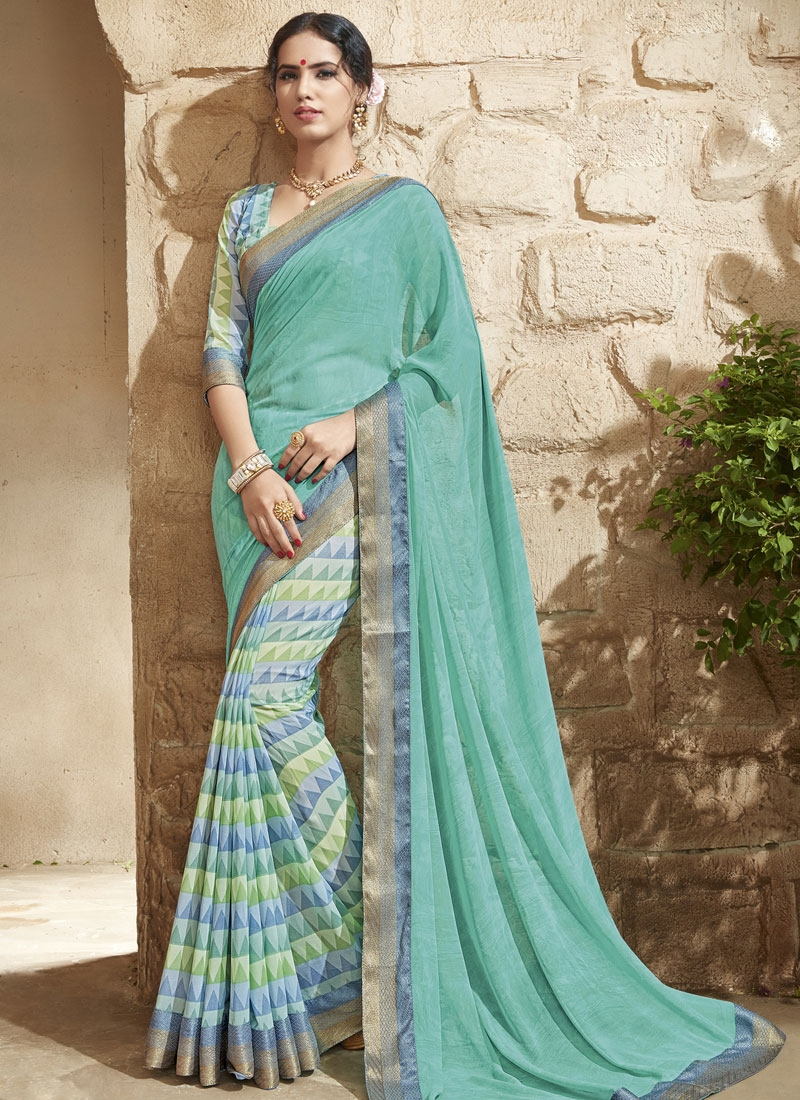 Masterly Lace Work Half N Half Party Wear Saree
