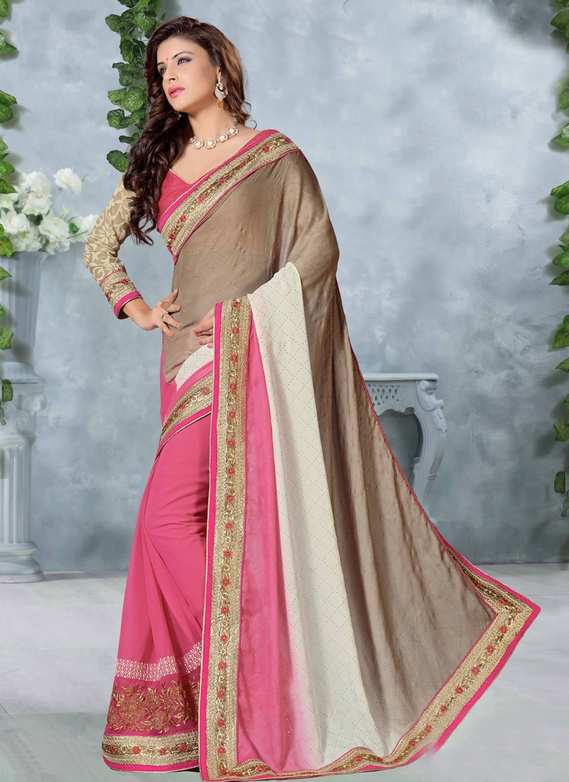 Masterly Lace Work Party Wear Saree