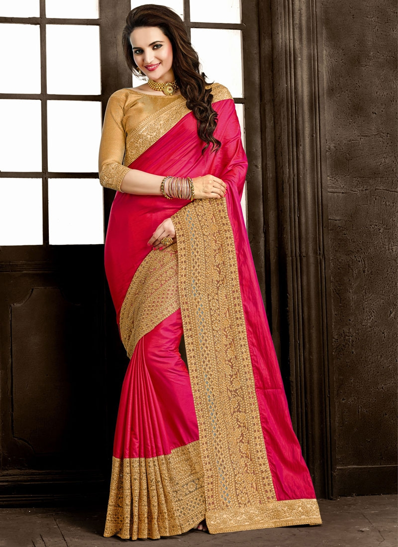 Masterly Patch Border Work Designer Saree