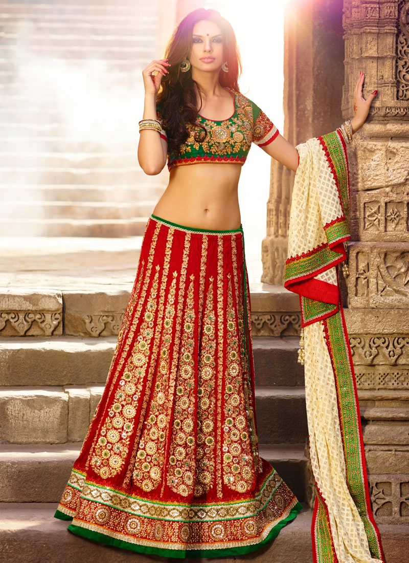 Masterly Red Color Bridal Lehenga Choli