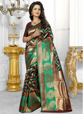 Masterly Resham Work Trendy Classic Saree