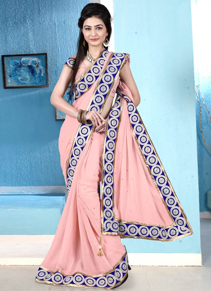 Masterly Stone Work Casual Saree