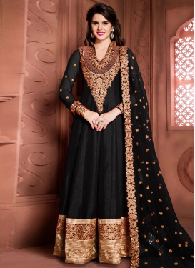 Mesmeric Banglori Silk Booti Work Floor Length Anarkali Salwar Suit For Ceremonial