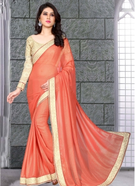 Mesmeric Beads And Resham Work Party Wear Saree