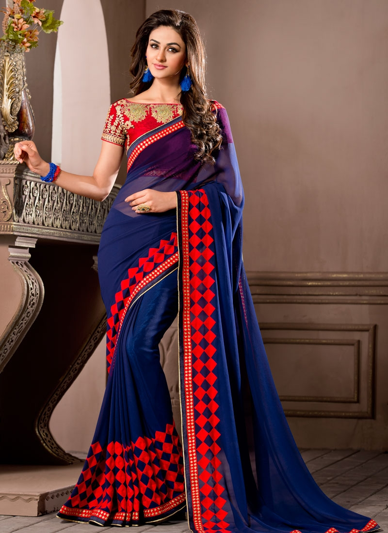 Mesmeric Embroidery Work Party Wear Saree