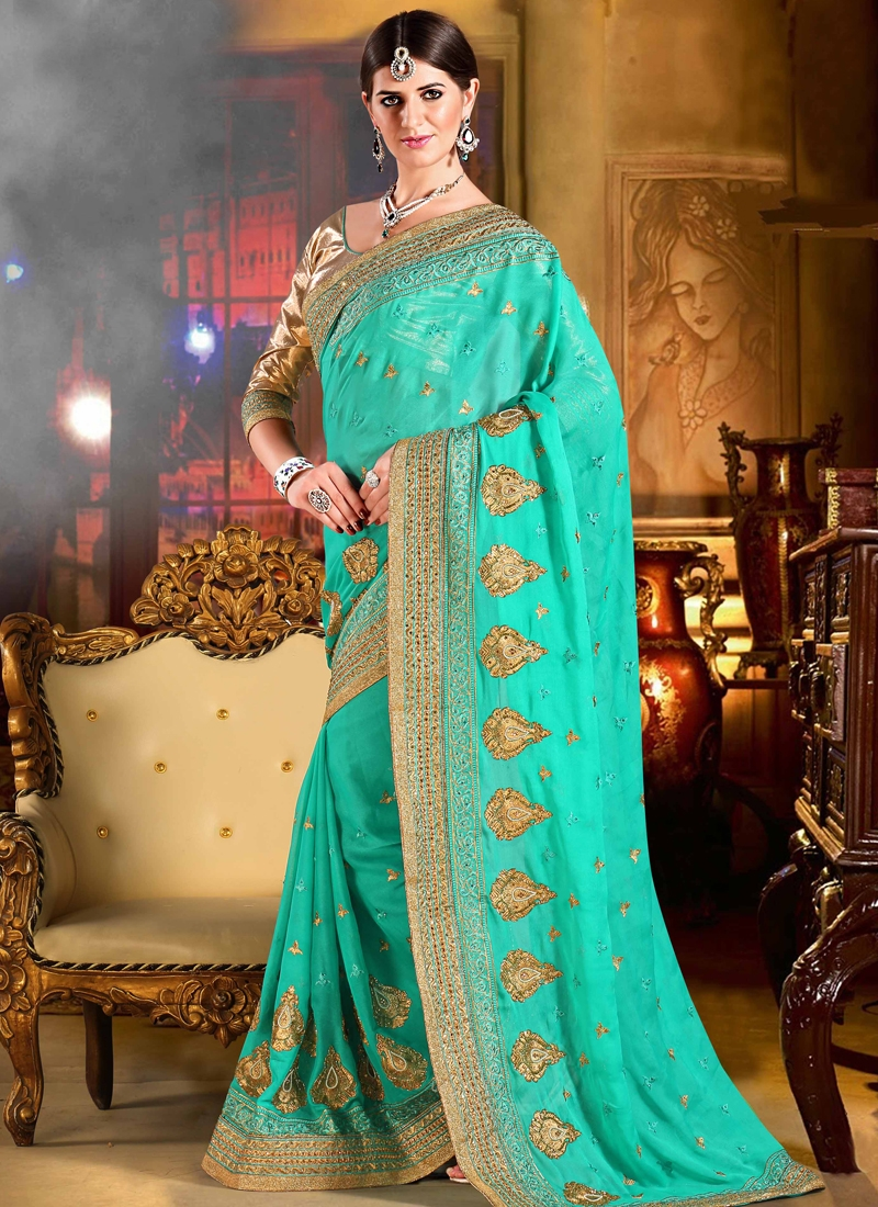 Mesmeric Lace Work Party Wear Saree