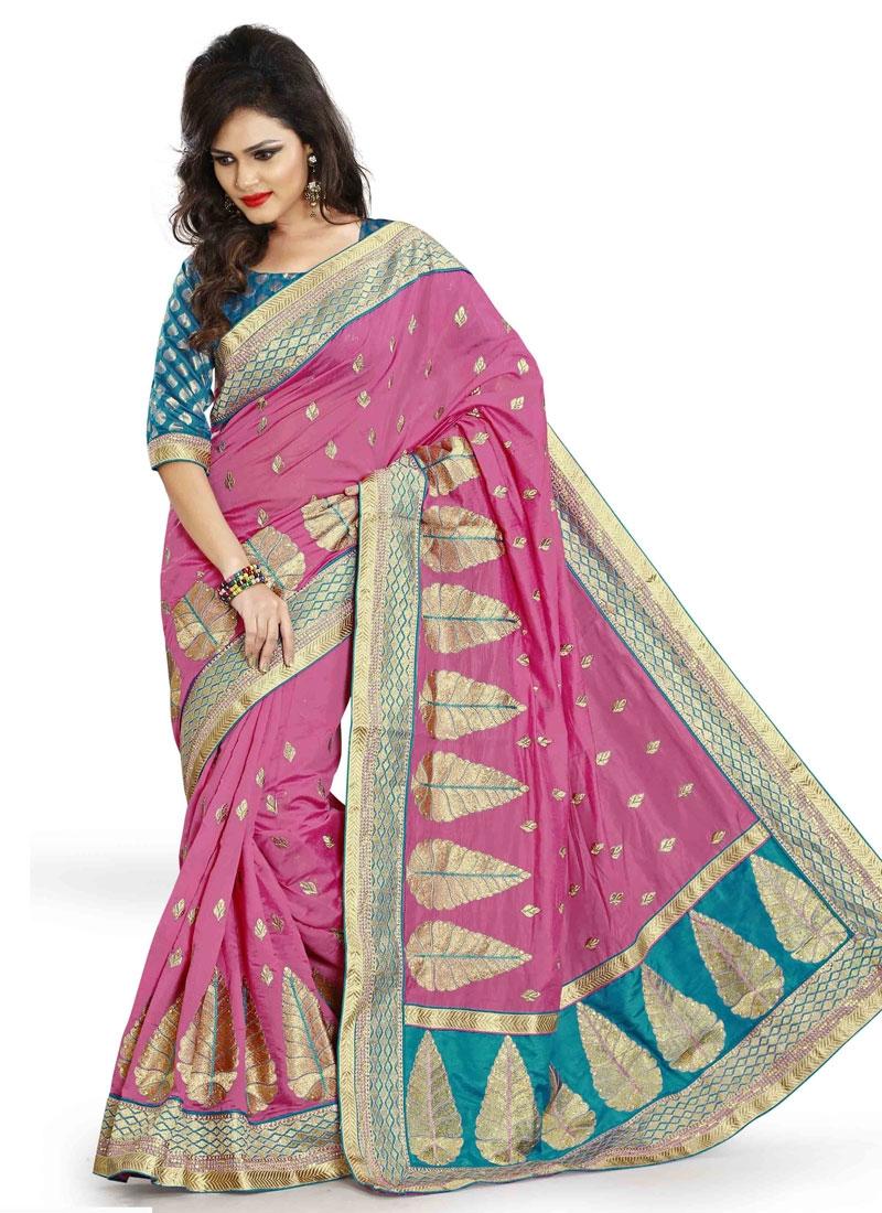 Mesmerizing Chanderi Silk Party Wear Saree