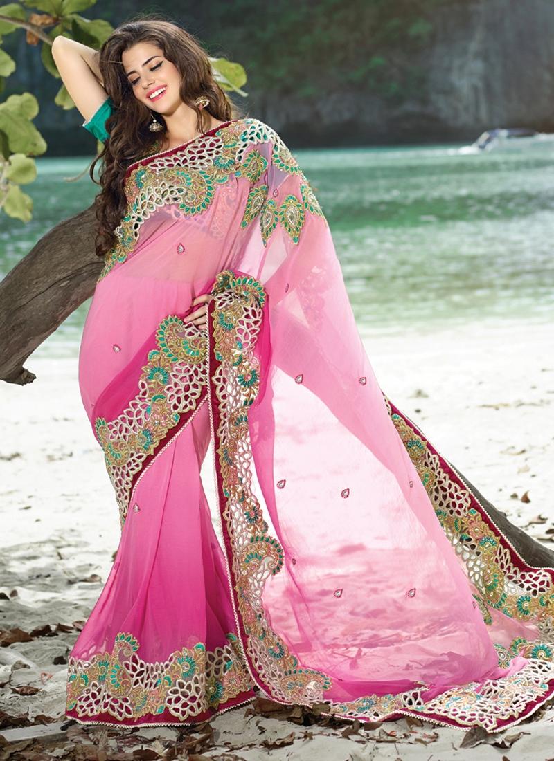 Mesmerizing Cut Enhanced Wedding Saree