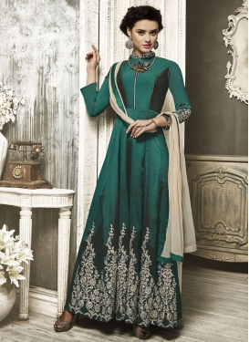 Mesmerizing Embroidered Work  Long Length Anarkali Salwar Suit
