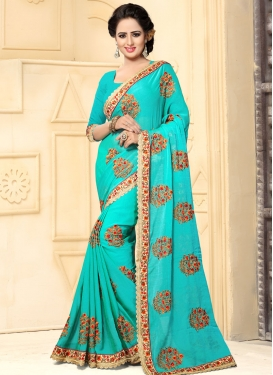 Mesmerizing Embroidered Work Traditional Saree For Ceremonial