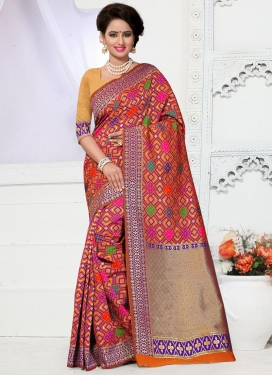 Mesmerizing Resham Work Contemporary Saree For Ceremonial