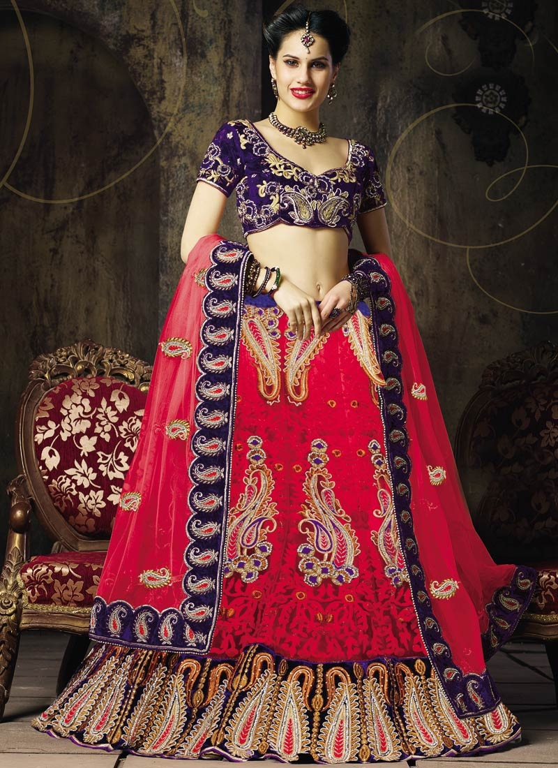 Mesmerizing Velvet Patch Work Wedding Lehenga Choli