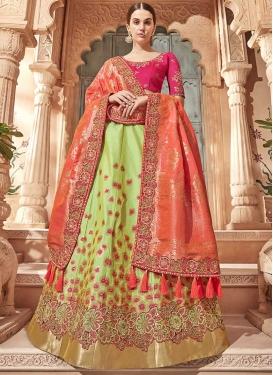 Mint Green and Rose Pink Designer Classic Lehenga Choli For Bridal