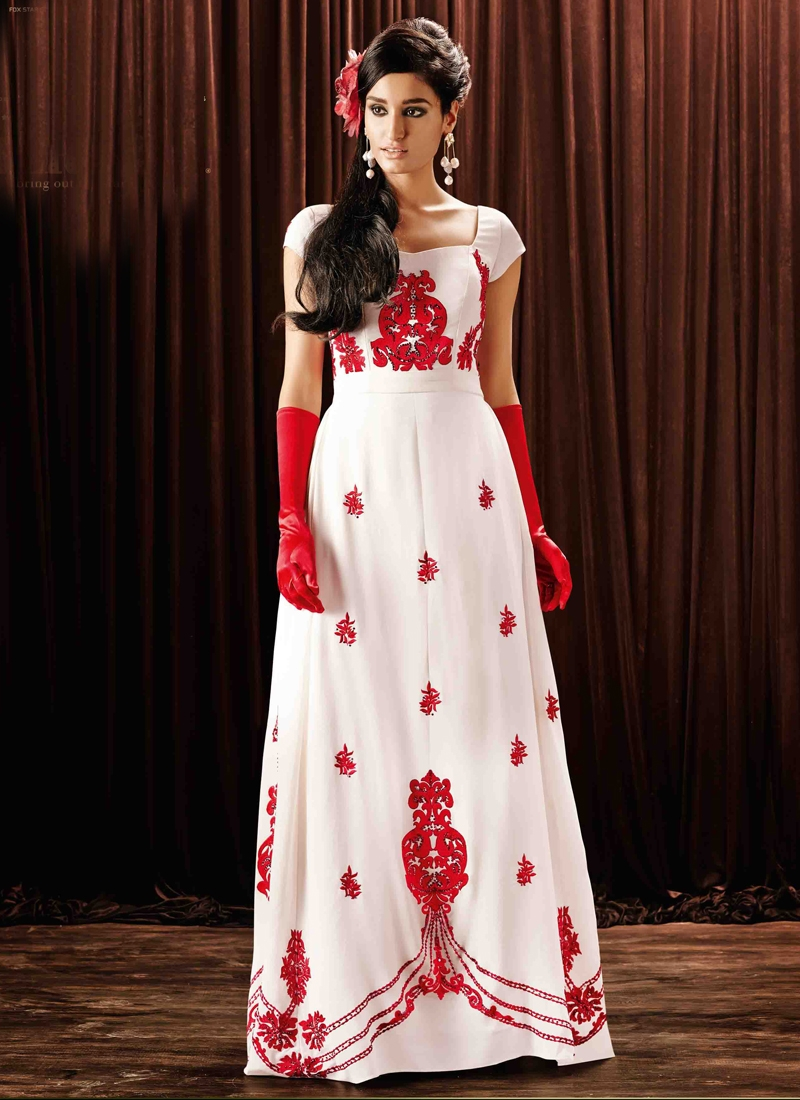 Miraculous Booti And Stone Work Designer Readymade Gown