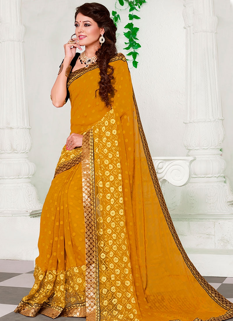 Miraculous Lace Work Jacquard Party Wear Saree