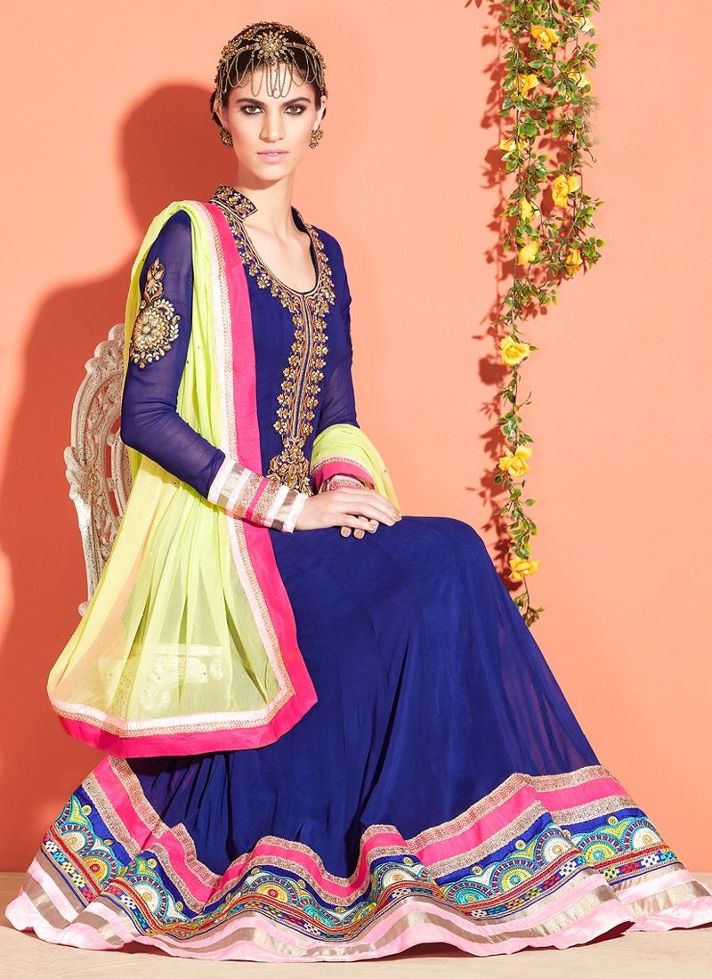 Miraculous Patch Enhanced Anarkali Salwar Suit