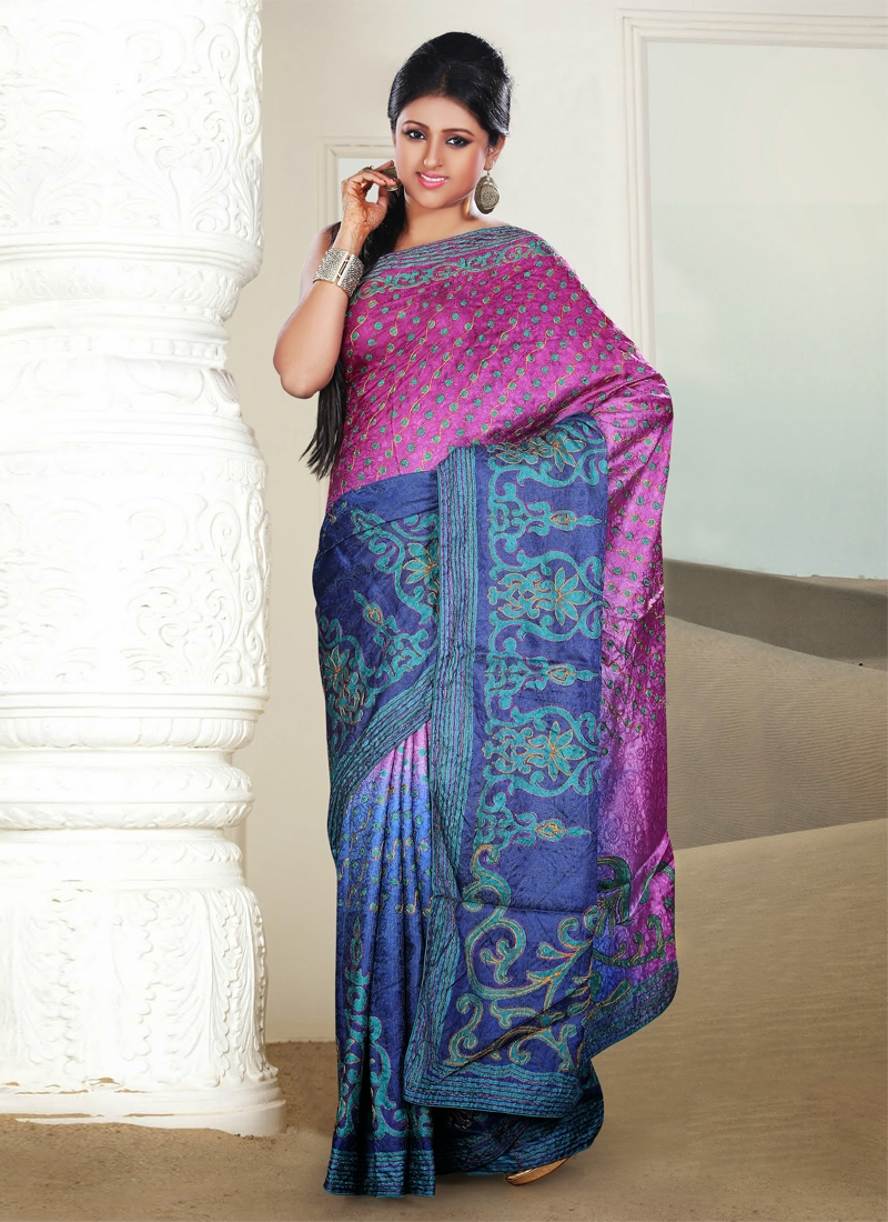 Miraculous Polka Dotted Casual Saree