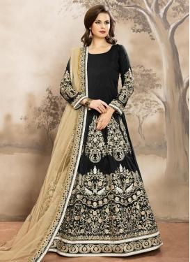 Miraculous Tafeta Silk Anarkali Salwar Suit